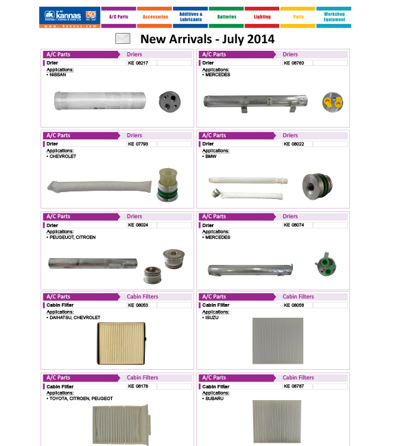 New Arrivals July 2014