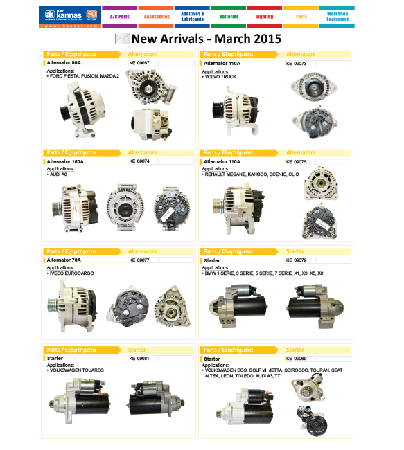 New Arrivals March 2015