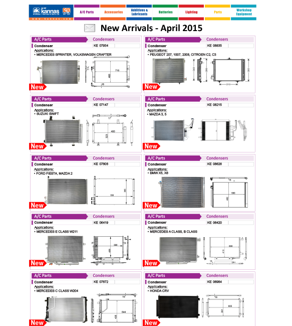 New Arrivals April 2015
