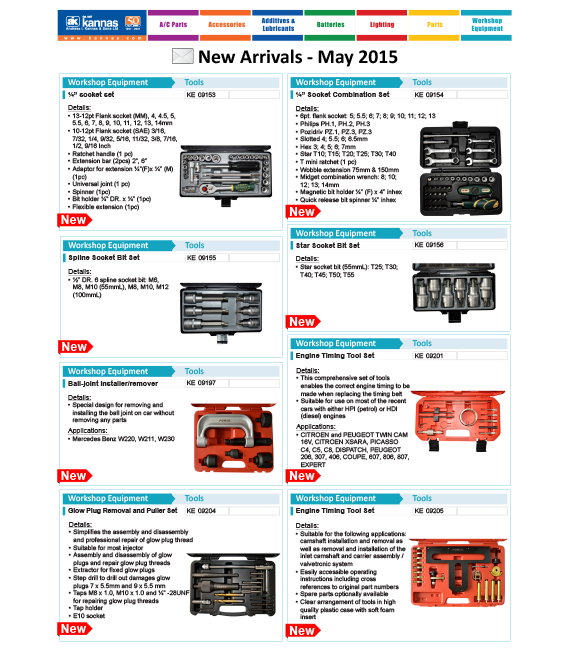 New Arrivals May 2015