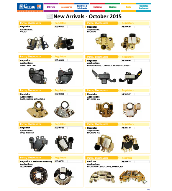 New Arrivals October 2015