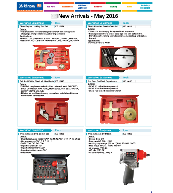 New Arrivals May 2016