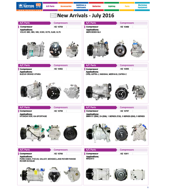 New Arrivals July 2016