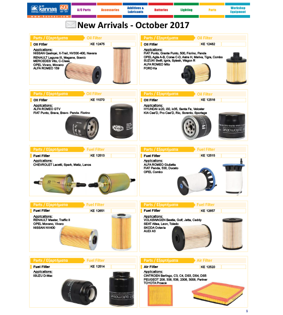 New Arrivals October 2017