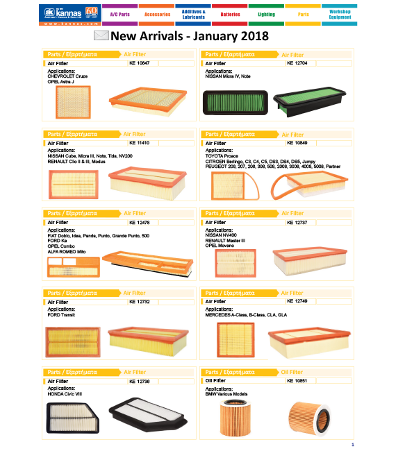 New Arrivals January 2018