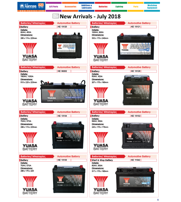 New Arrivals July 2018