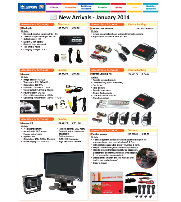 New Arrivals January 2014