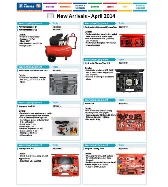 New Arrivals April 2014